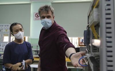 독일 이관 프로그램에 따른 산업용 전기 시범교육 검사